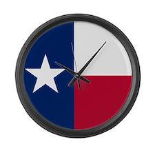 Cute Texans Large Wall Clock