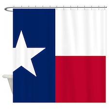 Cute State texas flag Shower Curtain