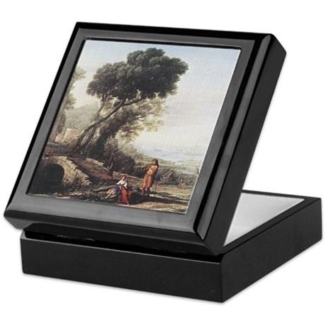 Italian Coastal Landscape Keepsake Box