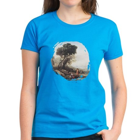 Italian Coastal Landscape Women's Dark T-Shirt