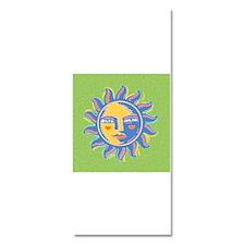 Graphic Sun on Green Background Invitations