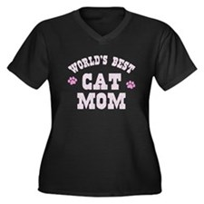 World's Best Cat Mom Plus Size T-Shirt