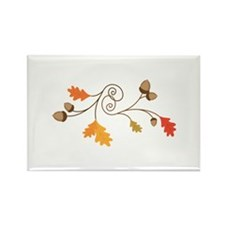 Leaves & Acorn Swirl Magnets