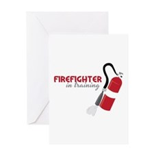 Firefighter in Training Greeting Cards