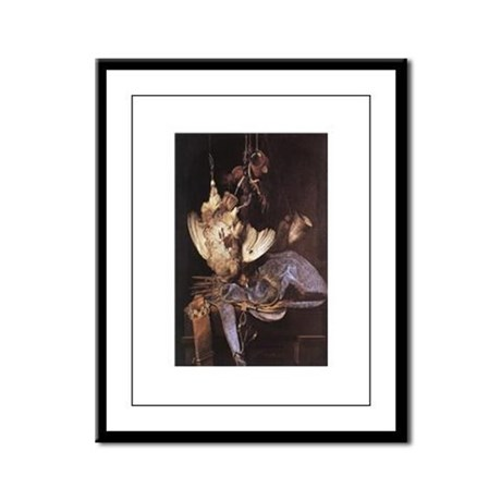 Still-Life with Hunting Equip Framed Panel Print