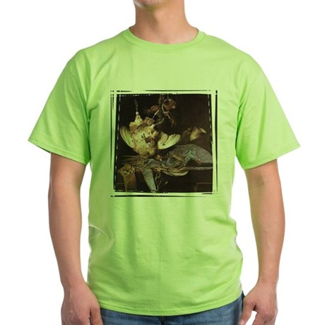 Still-Life with Hunting Equip Green T-Shirt