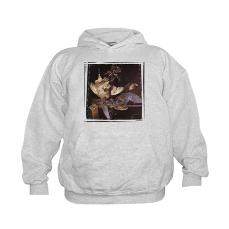 Still-Life with Hunting Equip Kids Hoodie