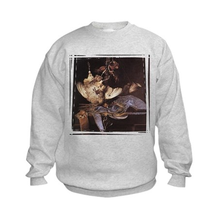 Still-Life with Hunting Equip Kids Sweatshirt
