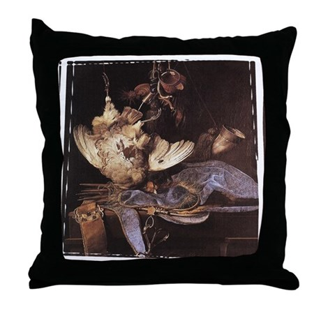 Still-Life with Hunting Equip Throw Pillow