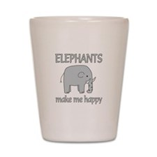 Elephant Happy Shot Glass