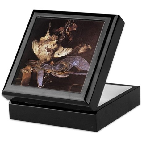 Still-Life with Hunting Equip Keepsake Box