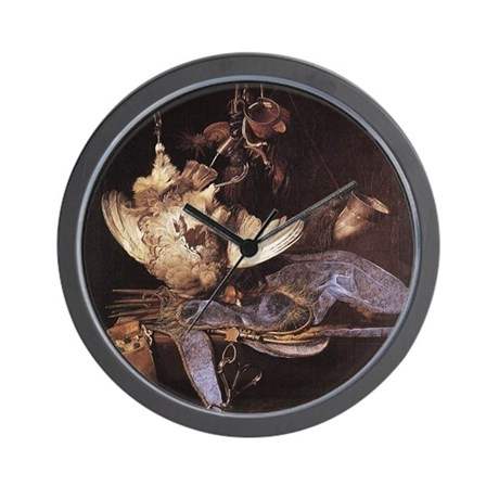 Still-Life with Hunting Equip Wall Clock