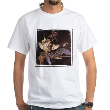 Still-Life with Hunting Equip White T-Shirt