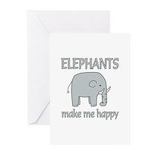 Elephant Happy Greeting Cards (Pk of 20)