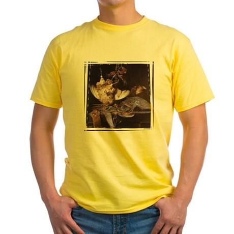 Still-Life with Hunting Equip Yellow T-Shirt