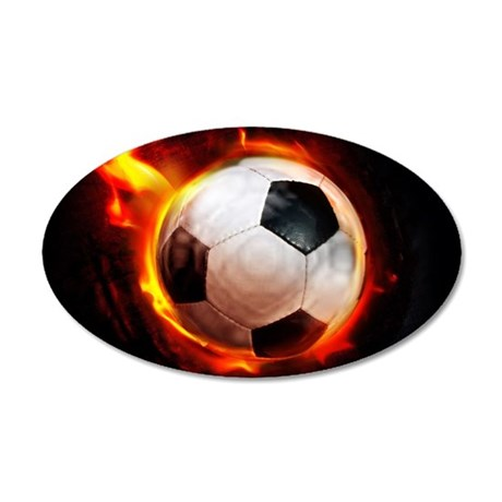 Hot Soccer Ball Wall Decal