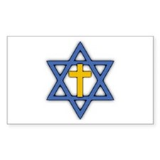 Star Of David With Cross Decal