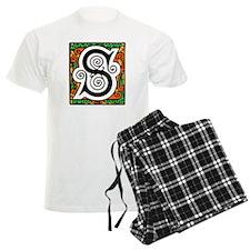 Medieval Monogram S Pajamas