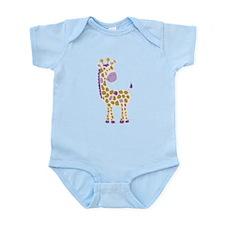 Girly Purple Giraffe Body Suit