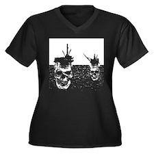 OFFSHORE OIL RIGS Women's Plus Size V-Neck Dark T-