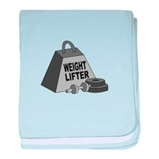 Weight Lifter baby blanket