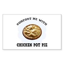 Comfort Chicken Pot Pie Rectangle Sticker