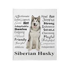 Cute Siberian Throw Blanket