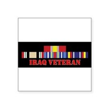 "Cute Veteran army Square Sticker 3"" x 3"""