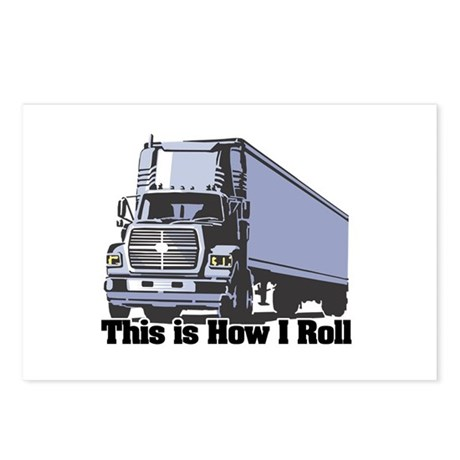 How I Roll (Tractor Trailer) Postcards (Package of