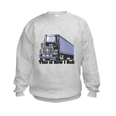 How I Roll (Tractor Trailer) Kids Sweatshirt