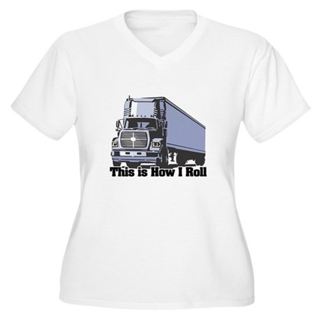 How I Roll (Tractor Trailer) Women's Plus Size V-N