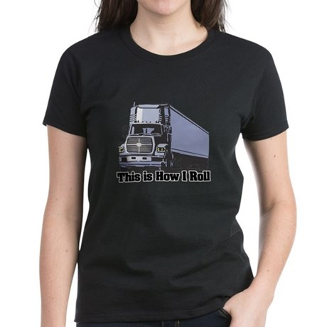 How I Roll (Tractor Trailer) Women's Dark T-Shirt