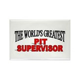 """The World's Greatest Pit Supervisor"" Rectangle Ma"
