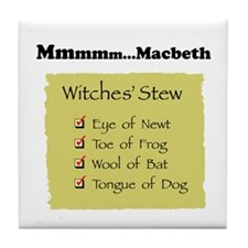 Mmm..Macbeth--  Tile Coaster