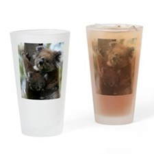 Mama and Baby Koalas Drinking Glass