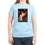 Angel (1) & Tri Cavalier Women's Light T-Shirt