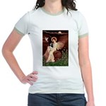 Angel (1) & Tri Cavalier Jr. Ringer T-Shirt