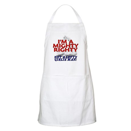 NOT A LEFTY GIRLIE MAN! BBQ Apron