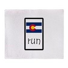 sticker colorado run.png Throw Blanket