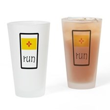 sticker new mexico run.png Drinking Glass