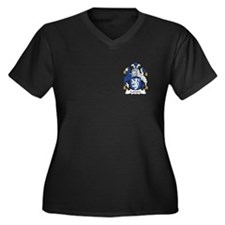 Lamont Women's Plus Size V-Neck Dark T-Shirt