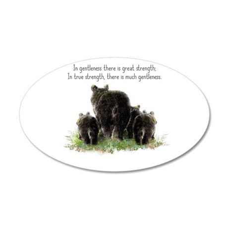 Gentle Strength Quote With 35x21 Oval Wall Decal