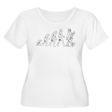 Clown Evolution Women's Plus Size Scoop Neck T-Shi
