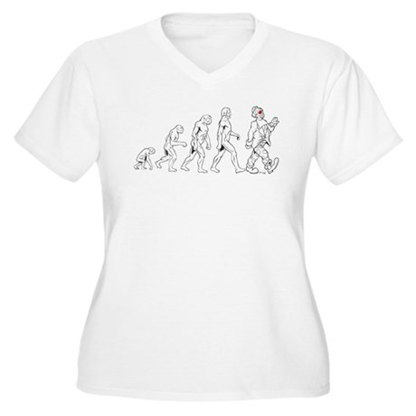 Clown Evolution Women's Plus Size V-Neck T-Shirt