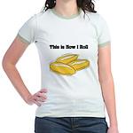 How I Roll (Italian Rolls) Jr. Ringer T-Shirt