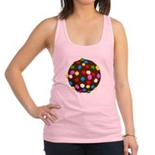 Chocolate Candy Color Ball Racerback Tank Top