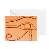 Right Eye Of Horus Greeting Cards (Pk of 10)