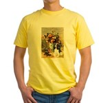 Flowers & Tri Cavalier Yellow T-Shirt
