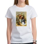 Flowers & Tri Cavalier Women's T-Shirt