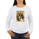 Flowers & Tri Cavalier Women's Long Sleeve T-Shirt